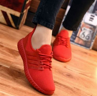 Ladies breathable running sneakers women sports flat shoes