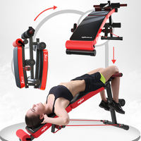 Sit-ups fitness equipment home assists foldable abdominal muscles fitness chair abdomen multi-function supine board