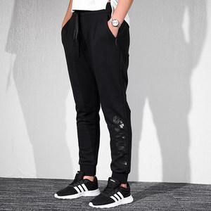 阿迪达斯新款秋冬针织女裤 运动休闲收口紧身长裤 厚款跑步S97113