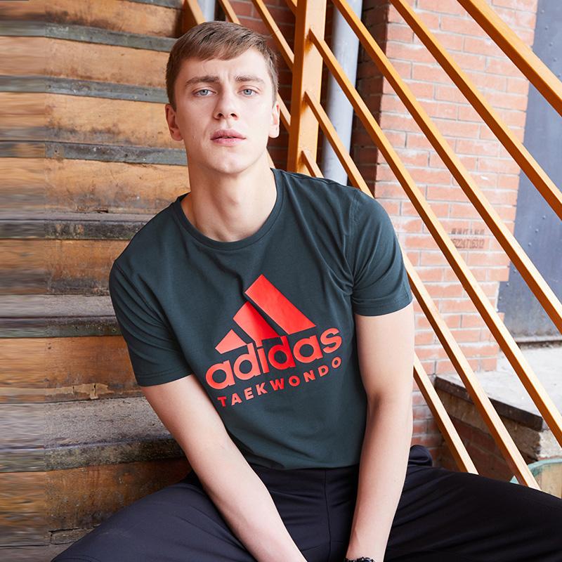 阿迪达斯短袖男2020新款夏季体恤男士运动篮球半袖透气圆领T恤男