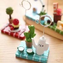 可爱场景照片夹 创意水果植物便签夹 留言夹名片夹 树脂小摆件