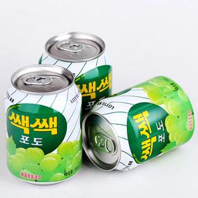 韩国进口LOTTE/乐天粒粒葡萄汁饮料夏日果汁果味饮品冷饮238ml