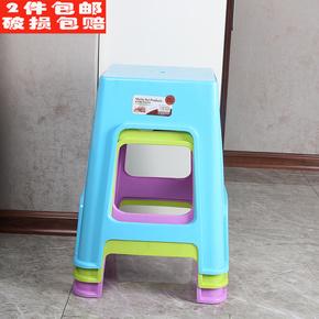 美嘉汇家用加厚塑料凳子特价客厅成人塑料椅子餐桌高板凳浴室胶凳