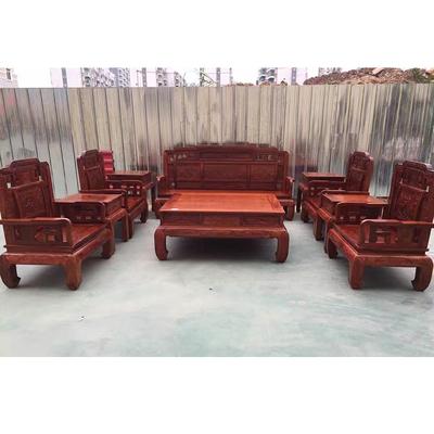 正宗大果紫檀國色天香雕花實木沙發十件套紅木花梨木客廳家具沙發網友購買經歷
