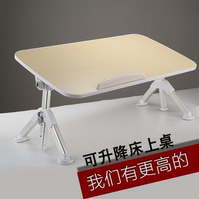 床上小桌子在女大学生放宿舍用可折叠的小桌板做笔记本电脑桌书桌