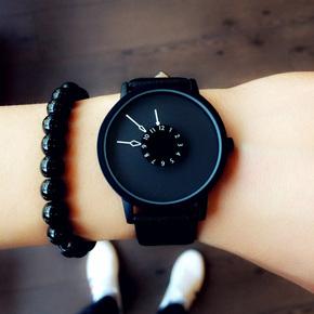 情侣简约ulzzang个性创意概念倒立时尚潮流韩版学生防水男女手表
