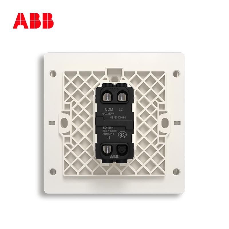 ABB开关插座无框轩致朝霞金墙壁开关面板一开双控开关AF125-PG