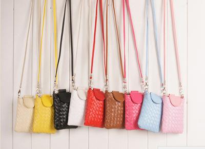 中老年人手机包斜跨包韩版女包牛津布斜挎迷你小包编制老人手机袋