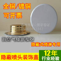 Concealed sprinkler head cover panel trim panel Shell Decorative cover concealed fire sprinkler head cover