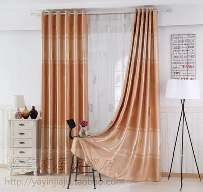 高品质绒布窗帘烫金全遮光客厅卧室书房餐厅飘窗满额包邮成品特价