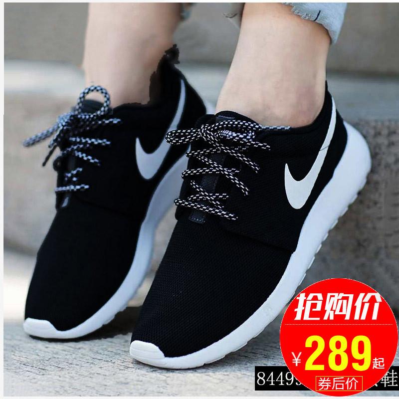 耐克女鞋2019新款Roshe One黑白运动鞋轻便休闲跑步鞋844994-002
