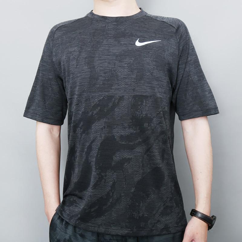 耐克短袖男2018夏新款速干透气半袖跑步训练运动休闲T恤AA2215