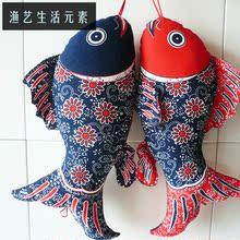 中国风布络家居挂饰品民族风特色过年礼品 布艺鱼鲤鱼挂件壁饰鱼