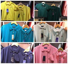 新加坡代购暇步士hush puppies亲子装纯棉珠地棉T恤短袖polo