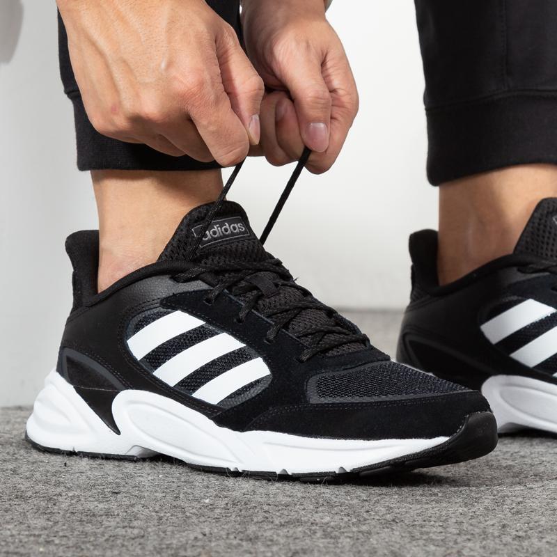 Adidas阿迪達斯男鞋2019秋冬季新款正品運動鞋女休閑跑步鞋情侶鞋