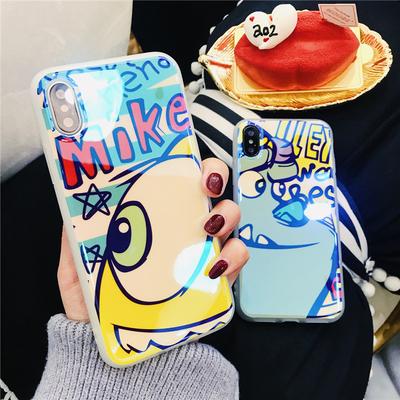 创意大眼仔iphonex手机壳苹果7plus个性镭射蓝光软胶6s防摔保护套