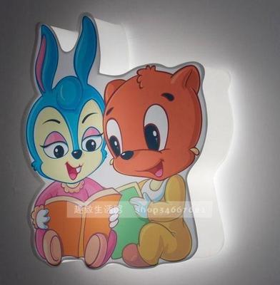 蓝猫蓝精灵吸顶灯儿童卡通创意卧室幼儿园灯饰包邮