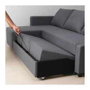 济南宜家家居国内代购福贝肯三人沙发床灰色转交沙发新款正品