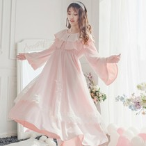 European luxury long princess nightdress early spring new double lace mesh sweet fairy god pajamas home service