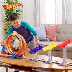 风火轮轨道火辣小跑车极限跳跃赛道车合金车男孩玩具车赛车小汽车