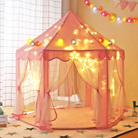 Children's tent hexagonal oversized indoor play house princess baby play house kids toy wave wave ocean ball pool