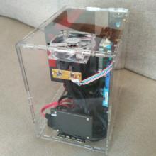 DIY 有机玻璃 亚克力水晶 个性化全透明机箱 立式M-ATX电脑主机箱