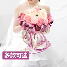结婚手捧花婚庆韩式新娘仿真手捧花中式伴娘欧式森系用品婚礼花束