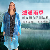 Increase the thickening of outdoor tourism light disposable raincoat ride poncho with long plastic raincoat rain gear