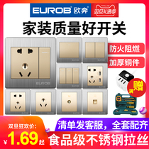 Oupen Switch Socket panel wall type 86 Dark 55 hole USB two or three plug open with wall socket home