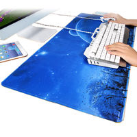 Game large large mouse pad female lock cute girl anime small thick laptop desk pad desk pad student keyboard pad creative eating chicken bag side