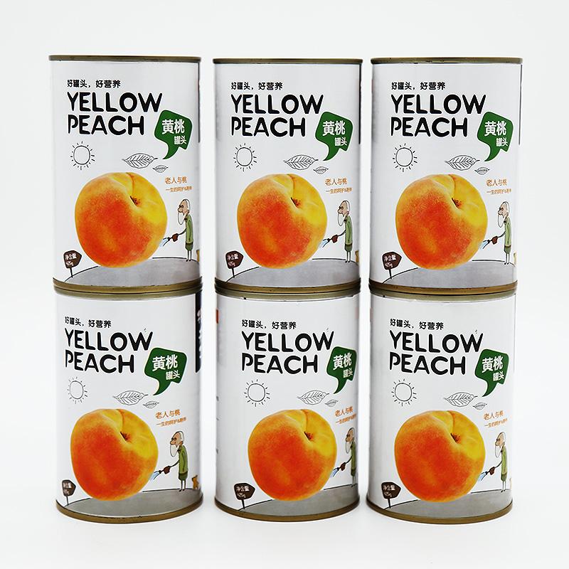 桃夫子 黄桃罐头 水果 砀山 特产 即食425g*6罐整箱 糖水罐头