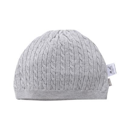 拉比童装秋款新品婴儿用品婴儿帽子保暖多彩 扭绳棉线BB帽