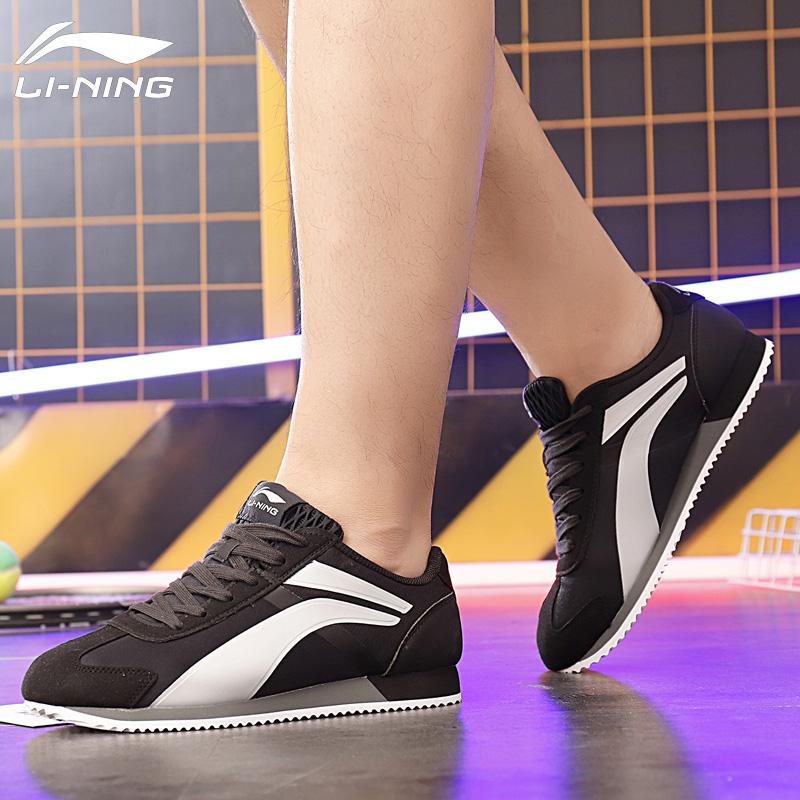 李宁男鞋阿甘鞋运动鞋秋季2019新款复古休闲鞋慢跑鞋板鞋啊甘男鞋
