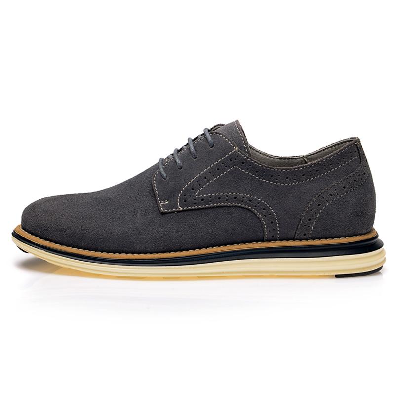 新款英伦低帮鞋时尚休闲反绒皮鞋真皮透气板鞋潮 2014 西域骆驼男鞋