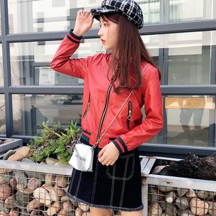 秋冬小皮衣女短款外套2018新款韓版顯瘦學生寬松pu皮夾克機車bf風