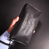 Clutch bag envelope bag men's leather soft leather casual top layer leather long wallet men's small hand bag large capacity