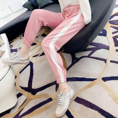 娃娃家潮流女装 2018夏天新款 韩版时尚休闲裤子女哈伦裤潮K6925