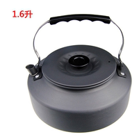 Outdoor teapot portable picnic stove with burning teapot BBQ camping kettle 1.6 liter coffee maker