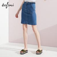 伊芙丽2018夏季新款裙子气质修身包臀半身裙chic牛仔短裙女夏