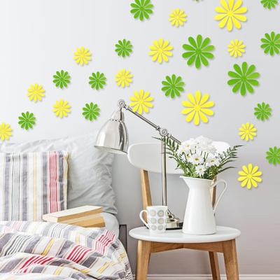 幼儿园贴花3D立体墙贴纸小花朵电视背景墙壁装饰品墙面创意贴画粘