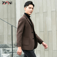Double-sided suit men's autumn and winter short Korean version Chao non-cashmere overcoat young men's wool wool overcoat