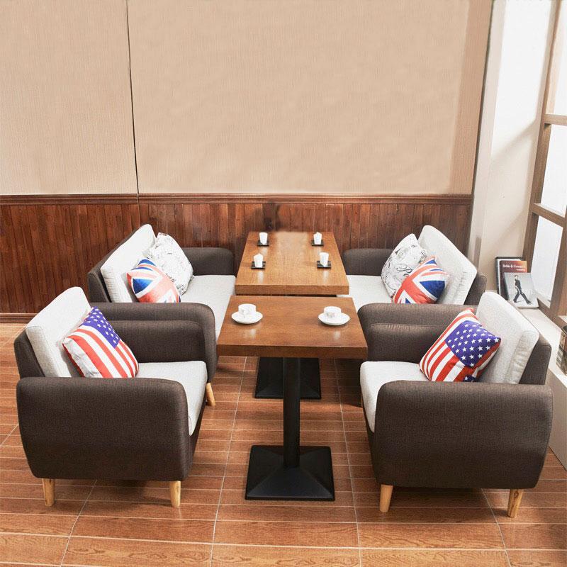 西餐厅桌椅咖啡厅奶茶店桌椅卡座沙发桌椅组合酒吧卡座沙发甜品店