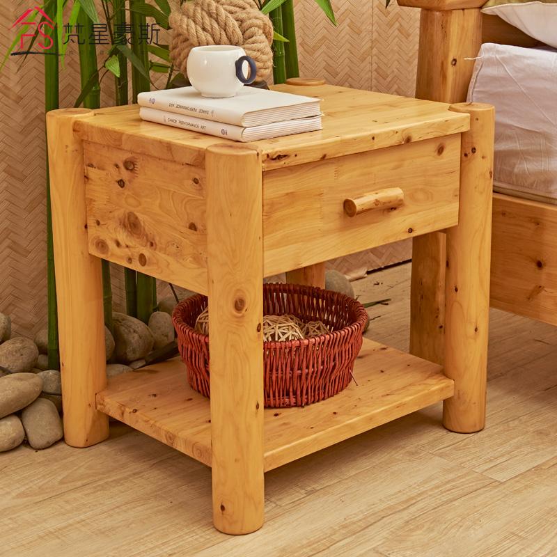 柏木实木床头柜