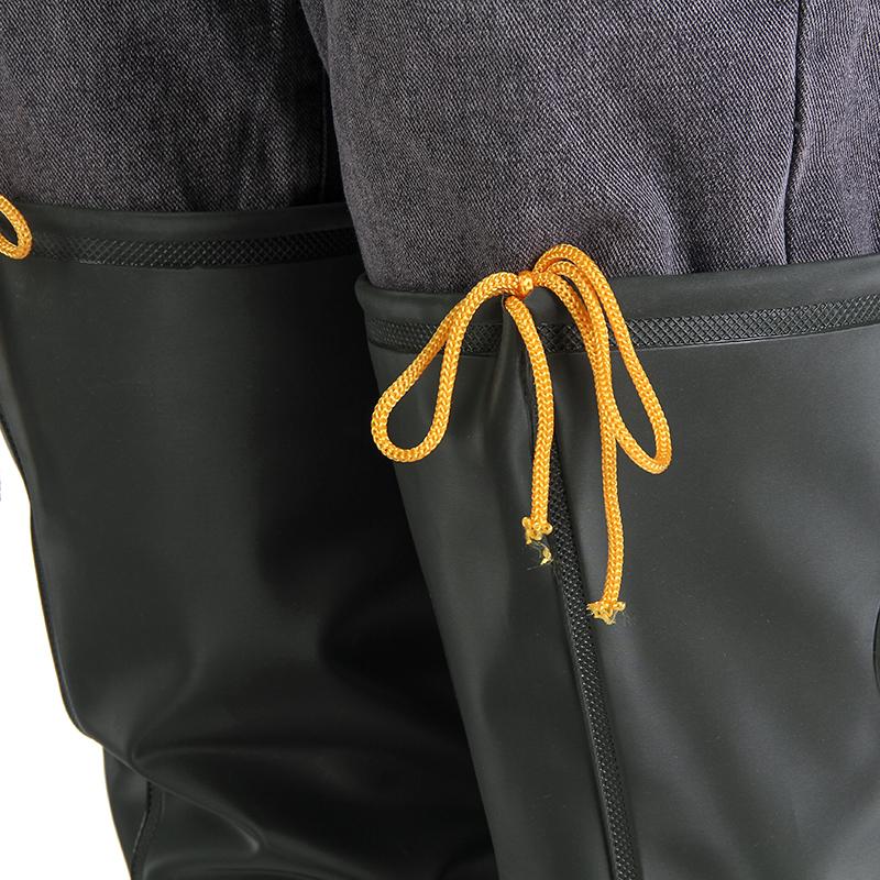 男女加厚底钓鱼专用过膝雨鞋雨靴长筒插秧鞋高筒水田农田连体水鞋