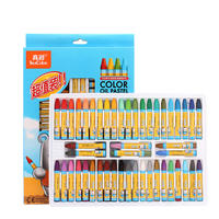 True color 48 color oil pastels pupils kindergarten children color crayon safety oily stick baby learning painting graffiti brush color washable oil flower stick set stationery art supplies wholesale