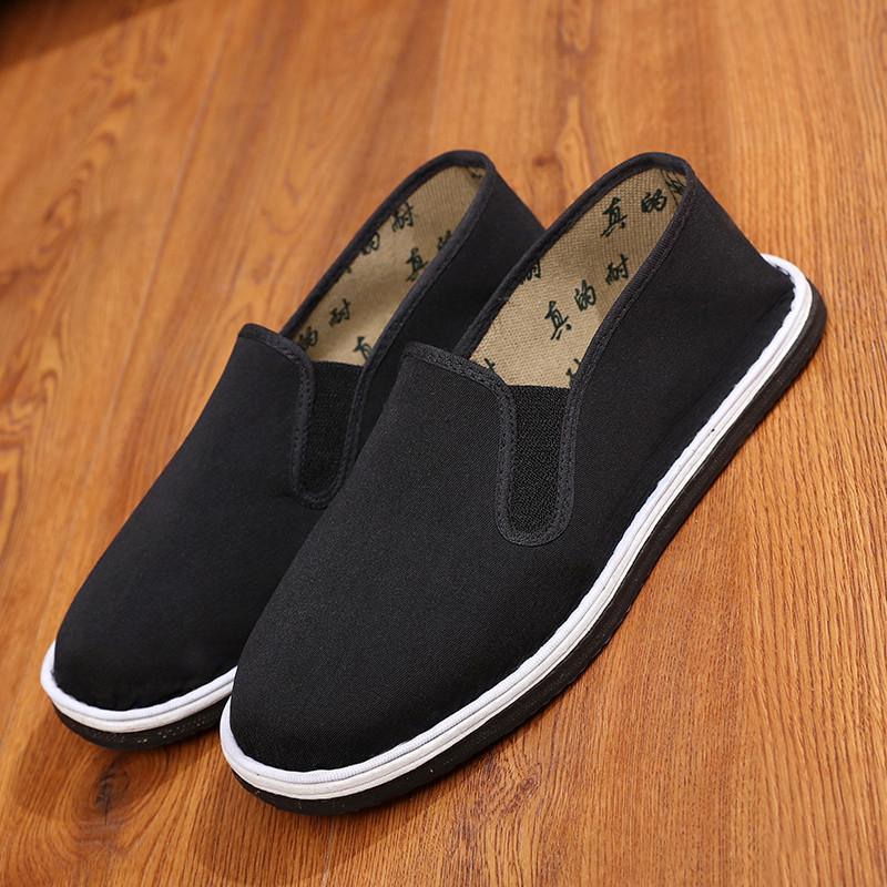 黑色单鞋男