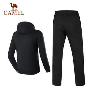 骆驼运动套装男款 秋冬季透气跑步健身 卫衣套装服长袖长裤两件套