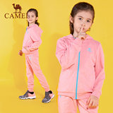 CAMEL / camel autumn children's micro-elastic sports suit boys and girls outdoor running clothing two-piece