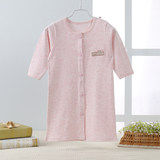 Children's conjoined nightgowns Spring and Autumn 0 baby's nightgown Pure cotton 1 baby's Nightgown cardigan 2 children's bathrobe 3 years old in summer