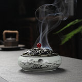 Household incense stove ceramic antique small sandalwood dish incense stove tea ceremony indoor for Buddha incense aromatherapy stove